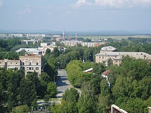 Nevyansk - View of the town from the Leaning Tower of Nevyansk