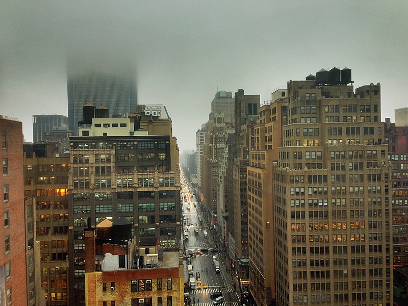 File:New York City - Fog in the Garment District, January 16. 2013.jpg