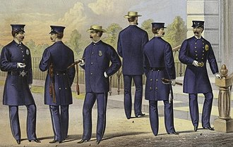 Police uniforms of the United States - Uniforms of the New York City Police Department in 1871