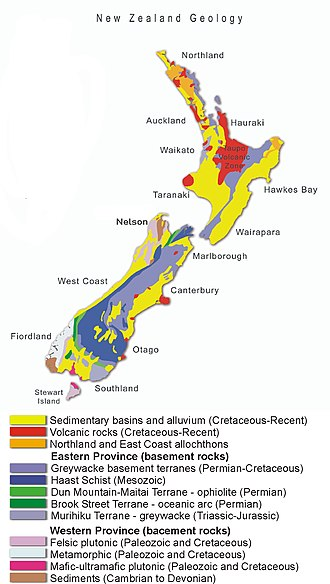 Geology Of New Zealand Wikipedia