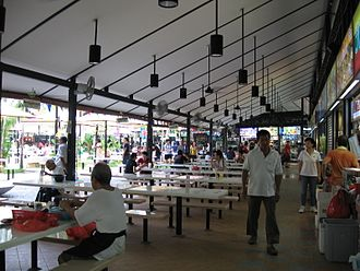 Newton Food Centre - The sheltered area of the food centre