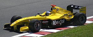 Nick Heidfeld - Heidfeld driving the Jordan EJ14 at the 2004 Canadian Grand Prix