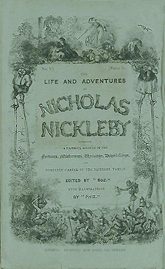 Nicholas Nickleby - Cover of serial, Vol. 13 1839