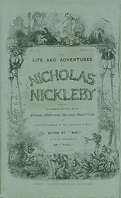 Picture of a book: Nicholas Nickleby