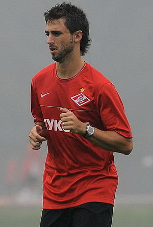 Nicolás Pareja - Pareja training with Spartak Moscow in 2010