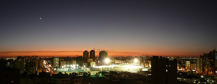Night panorama of Salmiya from our living room.jpg