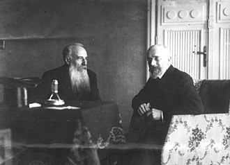 Nikola Pašić - Pašić with the Greek Prime Minister, Eleftherios Venizelos, in 1913