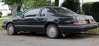 Ford Thunderbird (ninth generation) - Rear view of 1985-1986 model
