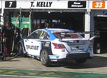 The Nissan Altima L33 of Todd Kelly at the 2015 Clipsal 500 Adelaide Nissan Altima of Todd Kelly.JPG