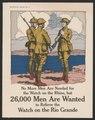 No more men are needed for the watch on the Rhine, but 26,000 men are wanted to relieve the watch on the Rio Grande - Gordon Grant Capt. U.S.A. LCCN2002712341.tif
