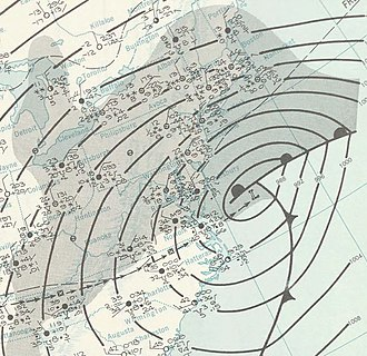 December 1960 nor'easter - Image: Nor'easter 1960 12 12 weather map