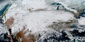 North American ice storm of mid-January 2017 - Image: North American ice storm 2017 01 15 (cropped)