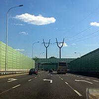 North Bridge Route in Warsaw
