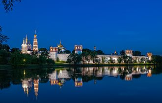 Novodevichy Convent - The convent at night