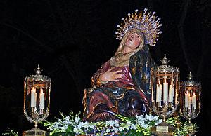 Holy Week in Spain - Virgen de las Angustias by Juan de Juni.