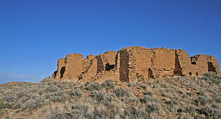 Ancestral Puebloan great house in New Mexico, USA