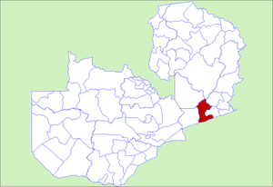 Location in Zambia