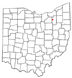 Location of Ghent, Ohio