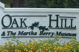 Oak Hill & The Martha Berry Museum - Gate Entrance to Berry Museum.