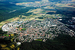 Obertshausen seen from the air