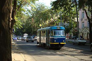 Oděsa, Sofijska, tramvaj