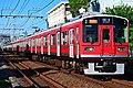 Odakyu 1000 series Hakone Tozan Railway livery in Enoshima Line 20200829.jpg