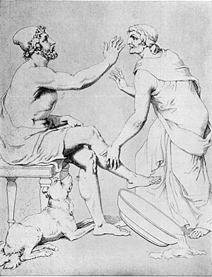 Christian Gottlob Heyne - Odysseus and Eurycleia, by Christian G. Heyne.