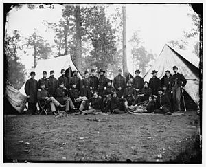 Infantry in the American Civil War - Officers of the 80th New York Infantry, Culpeper, Virginia, 1863