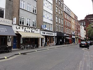Old Compton Street - Eastern end of Old Compton Street