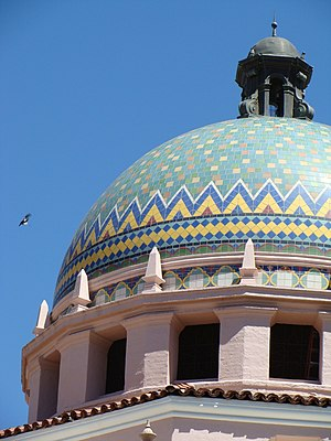 Pima County Courthouse - Tiled dome of Courthouse.
