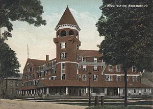 Woodstock, Vermont - Original Woodstock Inn in 1907, opened in 1892 but replaced in the late 1960s