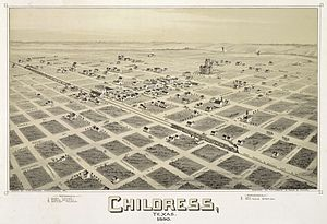 Childress, Texas - Map of the city in 1890