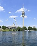 Olympic Aquatic Center and Olympic Tower Munich, July 2018.jpg