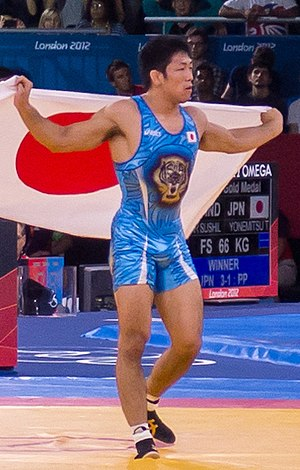 Tatsuhiro Yonemitsu - Image: Olympic Freestyle Wrestling at Excel 66kg Gold Medal Match