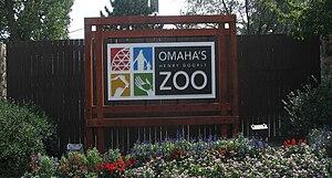 Henry Doorly Zoo and Aquarium - Sign at the main entrance