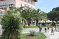 Opatija, the hotel Millennium and the sculpture of Miroslav Krleža.jpg