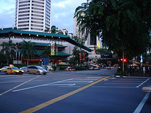 Orchard Road - The junction of Orchard Road and Scotts Road