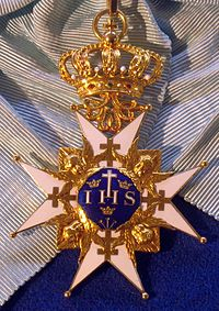 Order of the Seraphim badge (Sweden) - Tallinn Museum of Orders.jpg