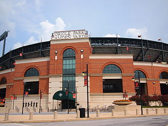 Populous (company) - The red brick facade of Camden Yards was designed by Populous to blend into the surrounding neighborhood of downtown Baltimore, especially the nearby B&O Warehouse.