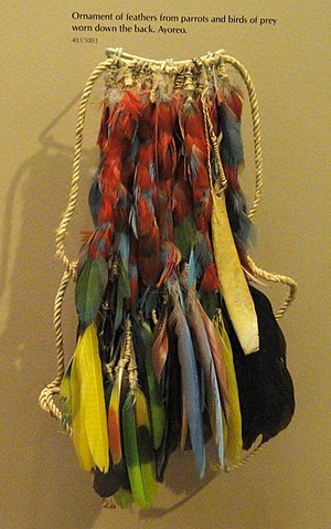 Ayoreo - Ayoreo parrot feather ornament, AMNH