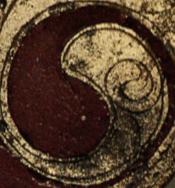 Ornamental Bronze Plaque, Celtic Horse-gear, Santon, Norfolk (Detail)