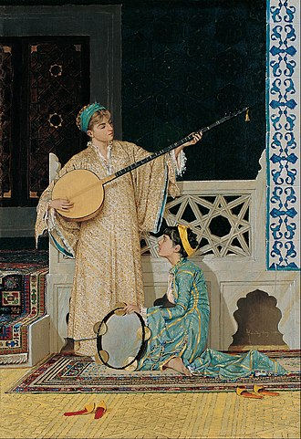 Pera Museum - Image: Osman Hamdi Bey Two Musician Girls Google Art Project
