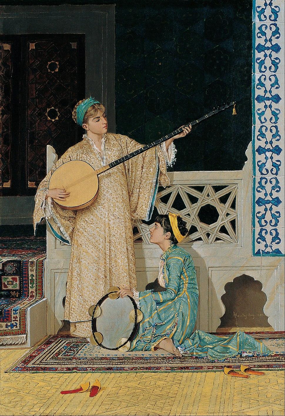 Osman Hamdi Bey - Two Musician Girls - Google Art Project