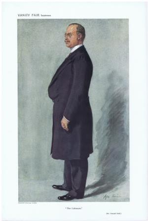 "Oswald Stoll - Caricature of Oswald Stoll by ""Ape Jr"" in Vanity Fair, 4 Sep 1911"