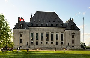 Canadian Charter of Rights and Freedoms - The building of the Supreme Court of Canada, the chief authority on the interpretation of the Charter