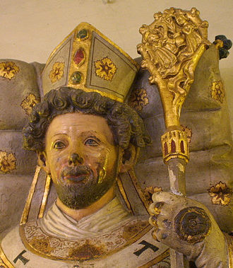 Pomerania during the High Middle Ages - Statue of Otto of Bamberg, in the monastery of Saint Michael in Bamberg (Bavaria, Germany)