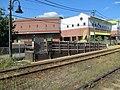 Outbound mini-high platform at Milton station, August 2016.JPG