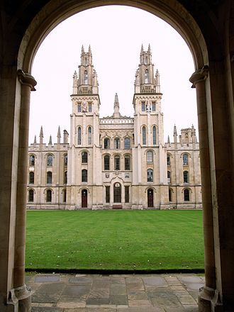 Third-oldest university in England debate - Oxford, the oldest university in England (All Souls College pictured)
