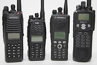 Two-way radio a radio that can do both transmit and receive a signal (a transceiver), unlike a broadcast receiver which only receives content; allows the operator to have a conversation with other similar radios operating on the same radio frequency (channel)