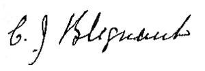 Pieter Jeremias Blignaut - Image: PJ Blignaut signature